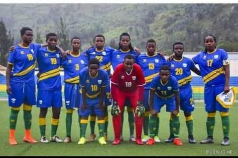 La sélection féminine de football du Rwanda.