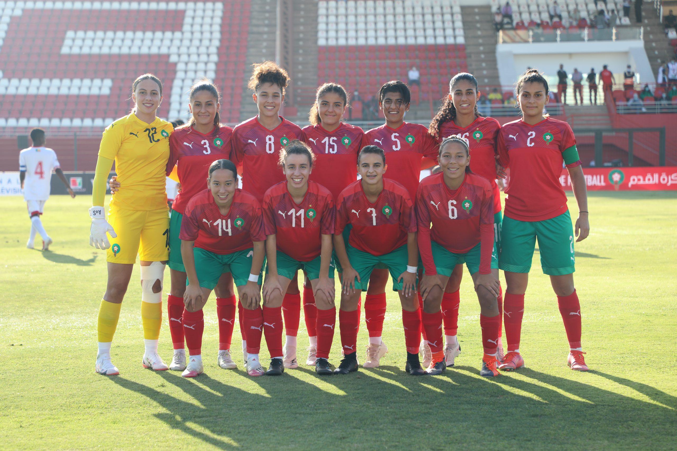 La sélection féminine U20 du Maroc.