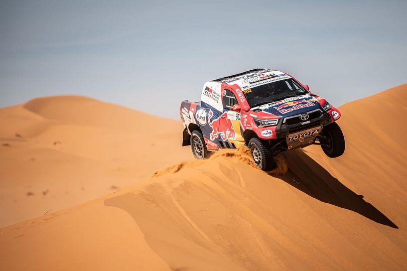 A bord de sa Toyota Gazoo Racing, Al-Attiyah a remporté les deux premières étapes du Rallye du Maroc.