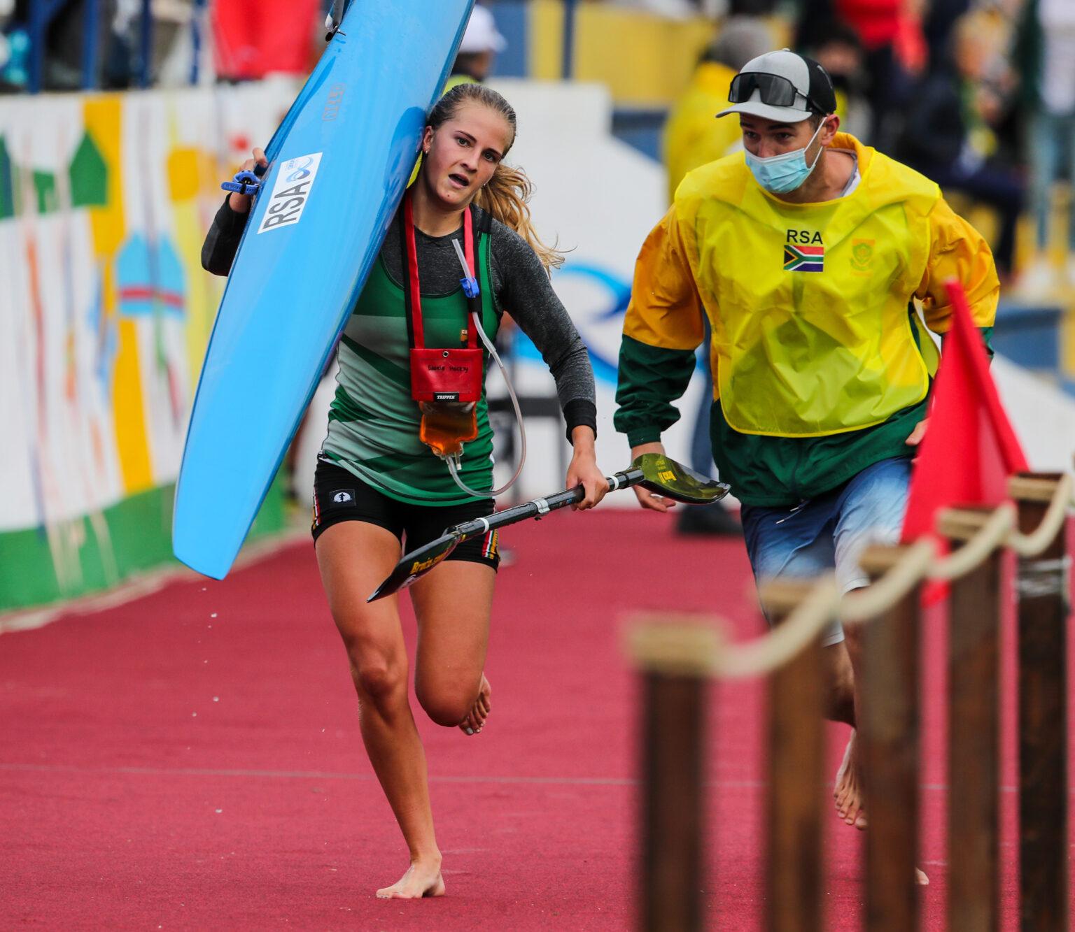 canoë-kayak: Saskia Hockly remporte une médaille