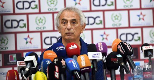 Vahid Hallilhodzic en conférence de presse, ce vendredi 8 octobre.